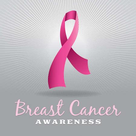rak: Różowy raka piersi wstążka świadomość na jasnoszarym serii. Wektor EPS 10 dostępne. EPS plik zawiera gradient mesh.