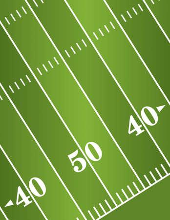 campo di calcio: L'illustrazione di una diagonale di football americano marcatori campo cantiere.