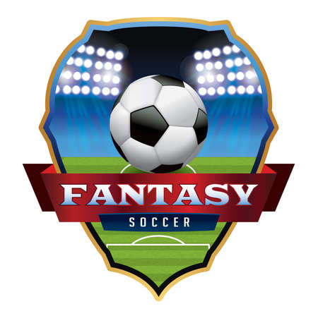 An illustration for a Fantasy soccer football emblem.