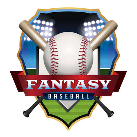 infield: An emblem illustration for Fantasy Baseball.