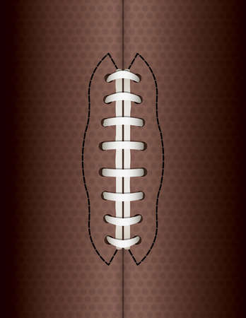 photo realism: An illustration of an American football ball background with lace and leather. Vector EPS 10 available. EPS file contains transparencies and gradient mesh. Illustration