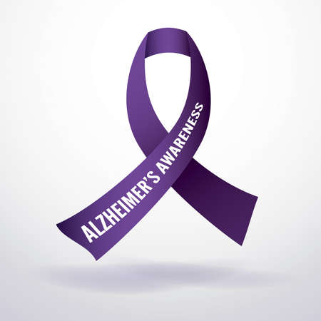 alzheimer's: Alzheimers disease awareness ribbon.