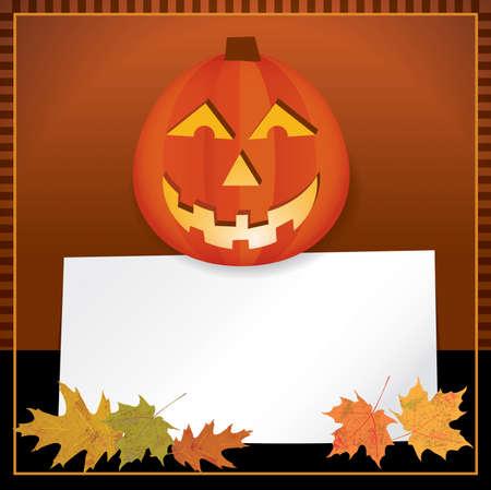 jack o: A Halloween or Autumn Jack o Lantern background theme. Room for copy. Vector EPS 10 available.