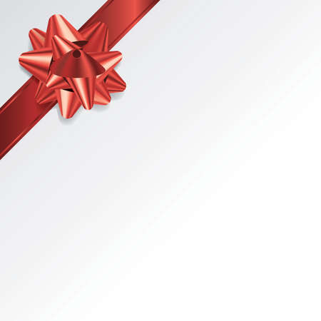 gift paper: An illustration of a red bow and ribbon on a grey background. Vector EPS 10 available. EPS file contains transparencies and gradient mesh. Illustration