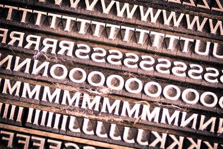 letterpress type: Vintage metal letterpress type background