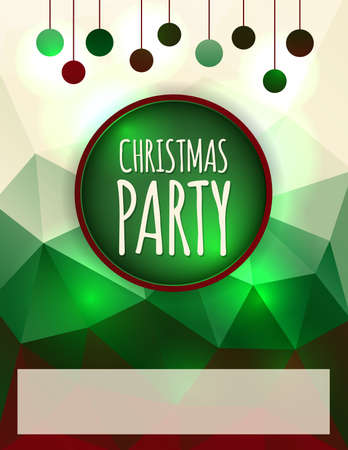 holiday invitation: A Christmas Holiday Party flyer or poster invitation. Illustration