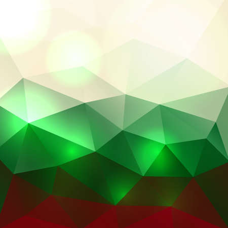 brightly lit: An illustration of brightly lit abstract Christmas holiday colors and triangle patterns background.