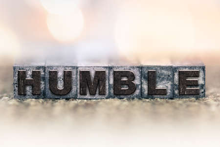 The word HUMBLE written in vintage ink stained letterpress type.