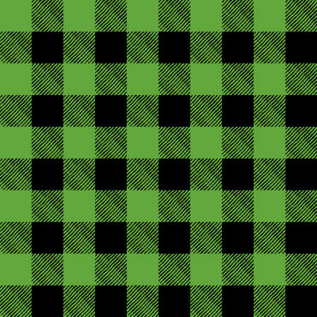 A flannel pattern illustration in green and black. Pattern can be tiled seamlessly. Vector EPS 10 available. Иллюстрация