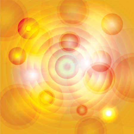 An abstract illustration of yellow, gold, and orange circles and colors. Vector EPS 10 available. EPS file contains transparencies. Illustration