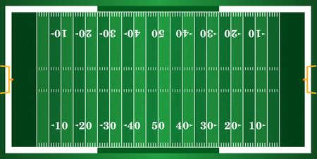Ein Gras American-Football-Feld strukturiert. EPS 10. Datei enthält Folien. Illustration
