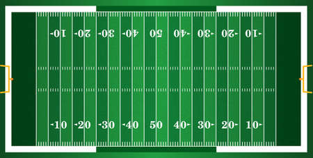 campo di calcio: Un erba strutturato campo di football americano. EPS 10. file contenente i lucidi. Vettoriali