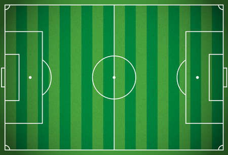 A realistic textured grass football - soccer field. Vector EPS 10. File contains transparencies.