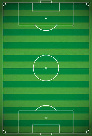 soccer field: A realistic vertical textured grass football - soccer field. Vector EPS 10. File contains transparencies. Illustration