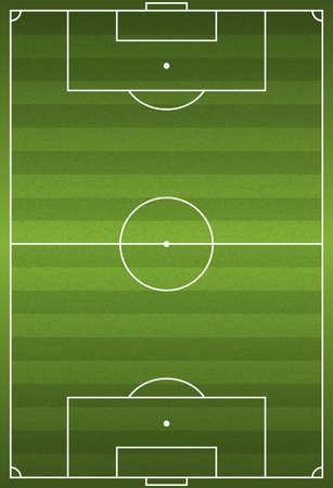 campo di calcio: Un realistico orientato verticalmente con texture erba calcio - campo di calcio. Vector EPS 10. File contenente i lucidi.