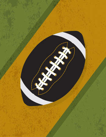 An illustration of a football icon on a grunge vintage background. Vector EPS 10 available. EPS contains transparencies. Illustration