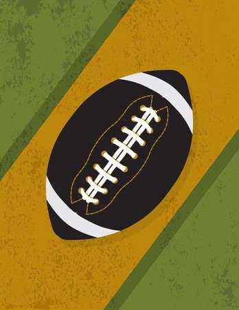 Eine Abbildung eines Fußball-Symbol auf Grunge Jahrgang Hintergrund. Vektor-EPS-10 zur Verfügung. EPS enthält Folien.