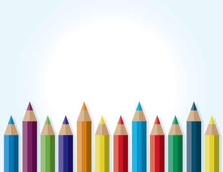 배경 색깔 연필에 의해 아래쪽에 마주. 벡터 EPS 10 사용할 수 있습니다. 복사 할 방.