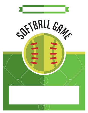 fast pitch: A template flyer background for a softball game. Vector EPS 10 available.
