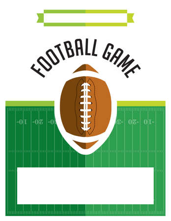 football party: A template flyer background for an American football game. Vector EPS 10 available. Illustration
