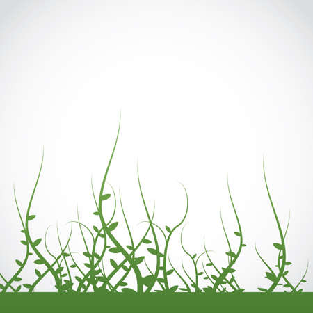 weeds: An illustration of growing weeds and vines silhouette. Vector EPS 10 available. Room for copy. Illustration