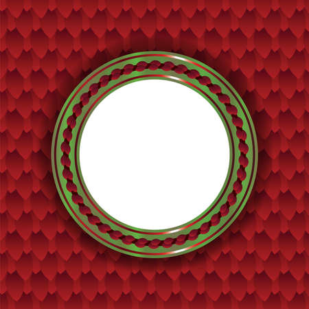 room for copy: A circular Christmas themed background illustration. Room for copy. Vector EPS 10 available.