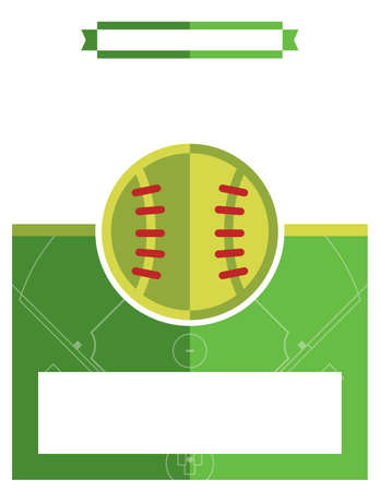 softball: A template flyer background for a softball game. Vector EPS 10 available.