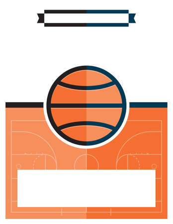 A template flyer background for a basketball game. Vector EPS 10 available.  イラスト・ベクター素材