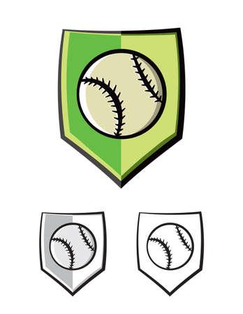A baseball shield emblem. Vector EPS 10 available.