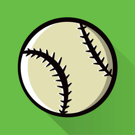 fastball: A baseball icon design illustration. Vector EPS 10 available. Illustration