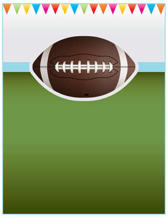 A flyer background design perfect for tailgate parties, football invites, etc.