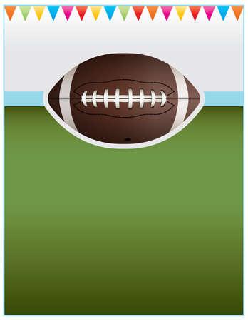 bannière football: Une conception circulaire de fond parfaite pour les parties du hayon, le football invitations, etc.