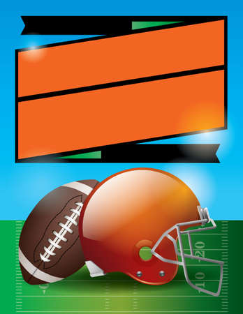 bowl game: A vector illustration for an American Football bowl game.