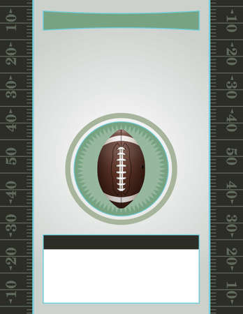 nfl: A vector American Football flyer design perfect for tailgate parties, football invites, etc.