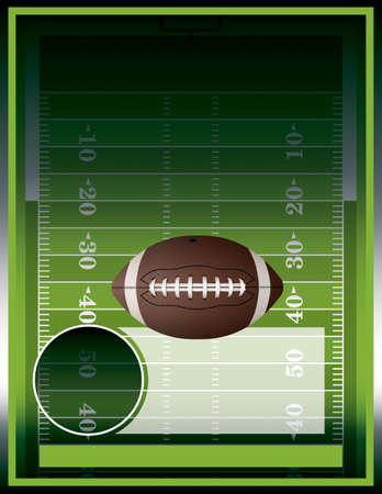 football field: A vector poster design perfect for tailgate parties, football invites, etc.