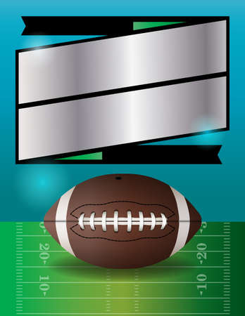 A vector football party flyer.  Illustration