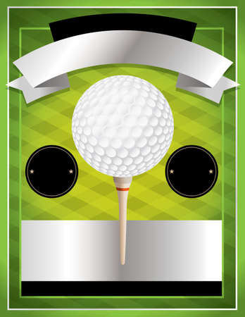 putting green: A vector illustration for a golf flyer. Perfect for golf tournaments and events.