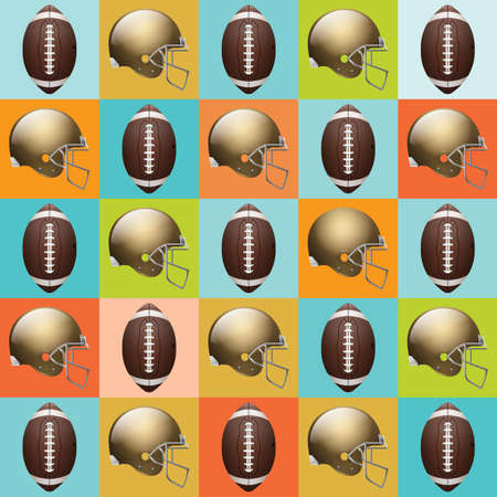 party down: A vector American Football pattern. EPS 10.