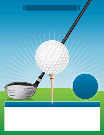 An illustration for a golf tournament.