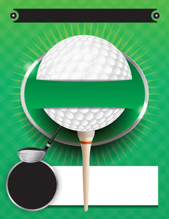 An illustration for a golf tournament. Фото со стока - 49867497