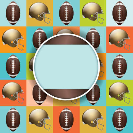 nfl helmet: A vector flyer design perfect for tailgate parties, football invites, etc.