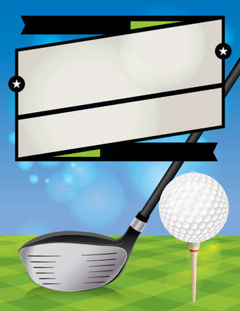 driving range: A vector illustration for a golf tournament.