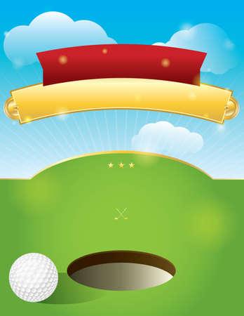 A nice design for a golf tournament invitation.