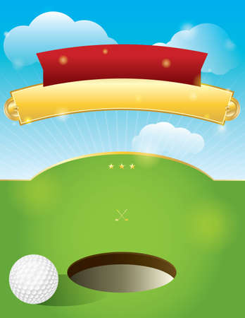 putting green: A nice design for a golf tournament invitation.