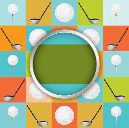 driving range: A vector golf tournament flyer design.  Illustration