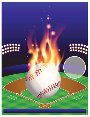 major league: An illustration for a baseball tournament.  Illustration