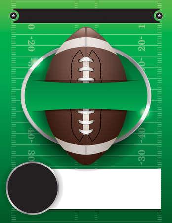 American football party illustration.  Illustration