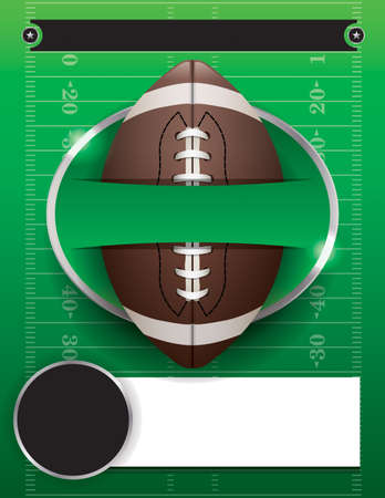American football party illustration.  Vectores