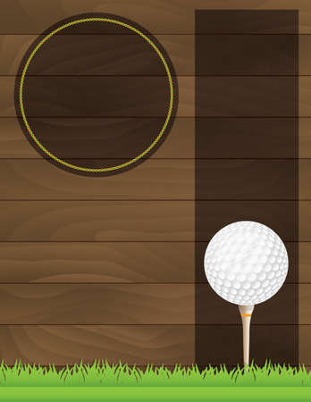 course: An illustration for a golf tournament.