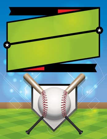 league: A vector baseball league registration illustration.  Illustration